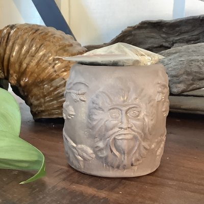 Green Man Smudge Pot Pottery