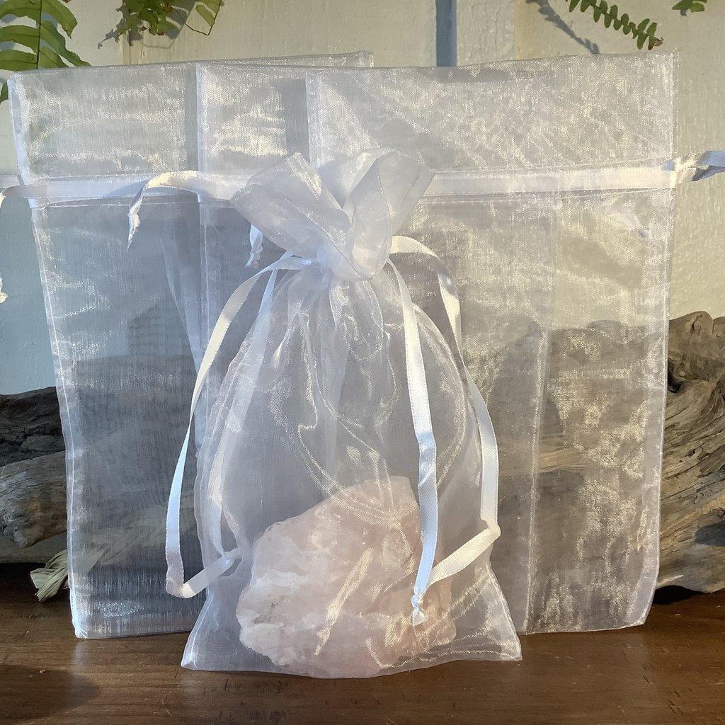 Lg white mesh bag