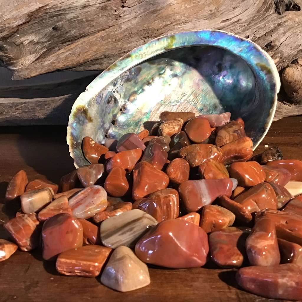 Jasper Tumbled red/brown
