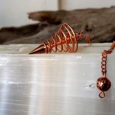Copper swirl Pendulum