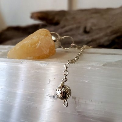 Orange Calcite Pendulum