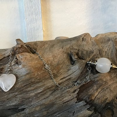 Quartz Teardrop Pendulum with Heart