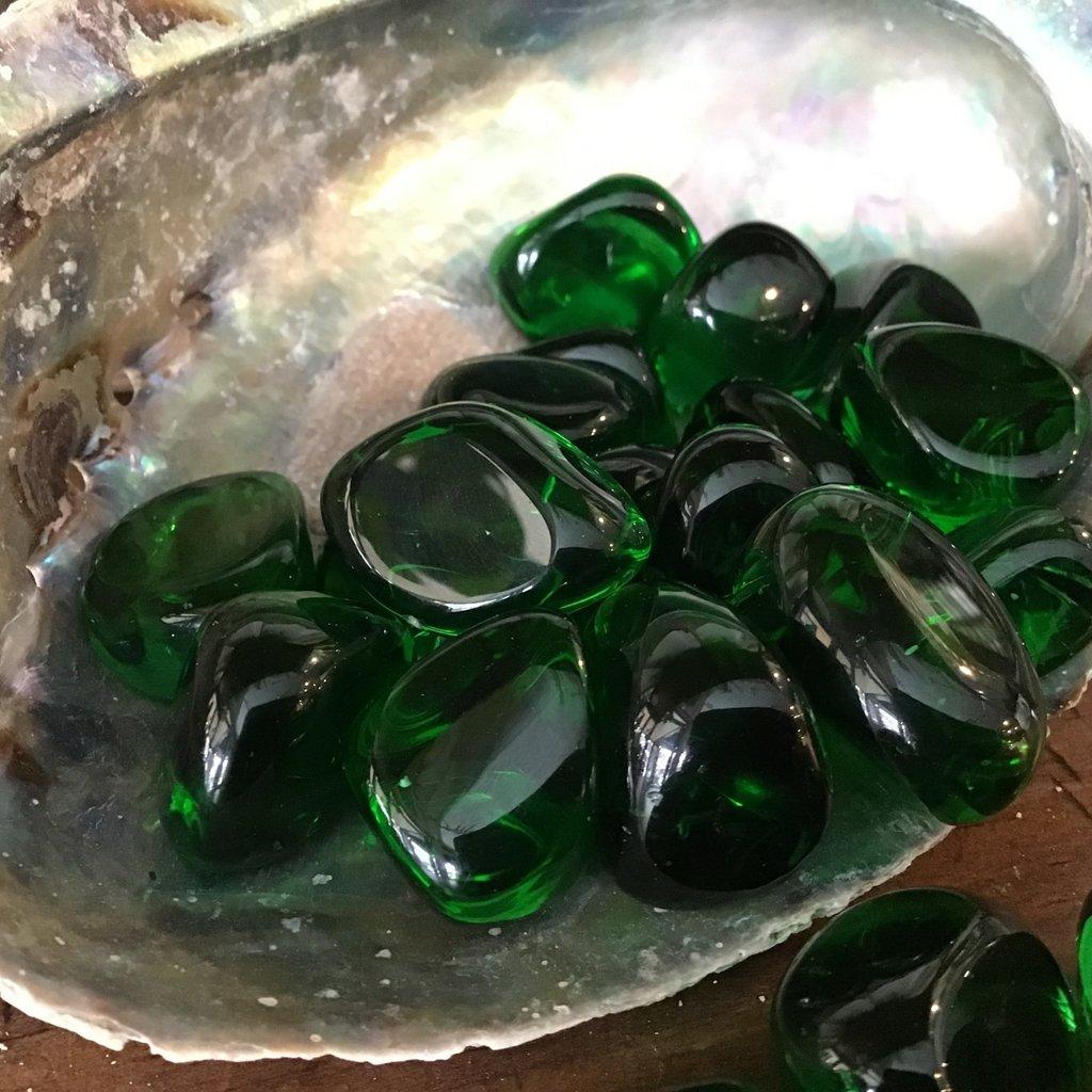 Green Obsidian Tumbled