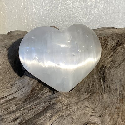 Selenite Large Heart