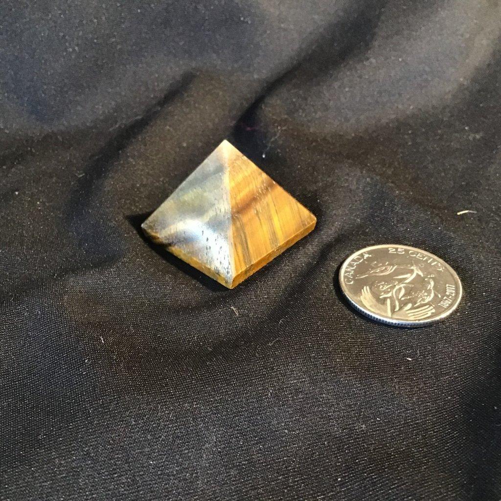 Tigers Eye Pyramid