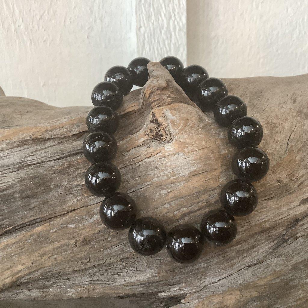 Black Tourmaline 12mm Bracelet
