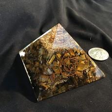 Tigers Eye Orgonite Pyramid