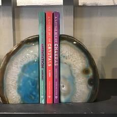 Blue Agate Book End