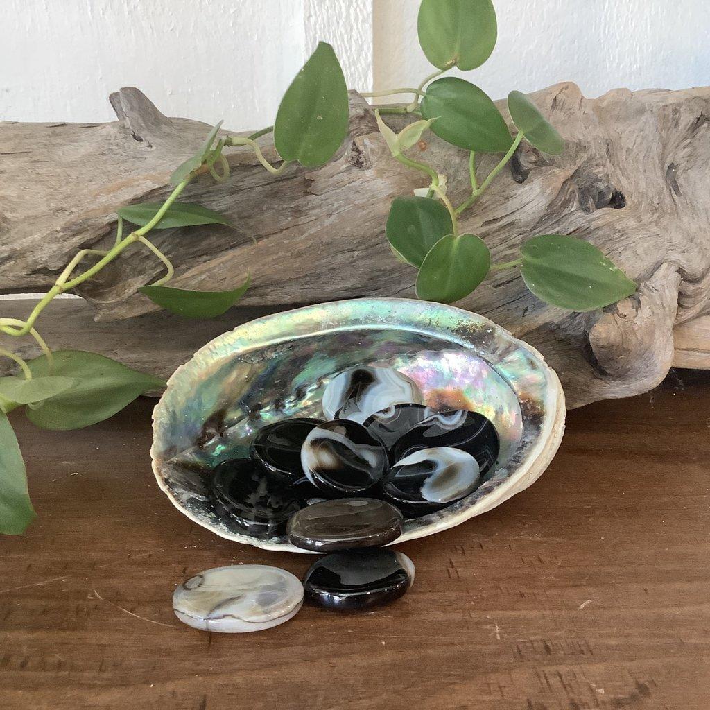 Black Agate Thumb Stone