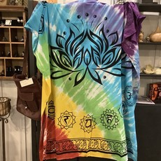 Lotus Chakras Tie Dye Tapestry