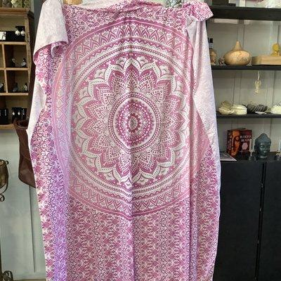 Pink Mandela Tapestry