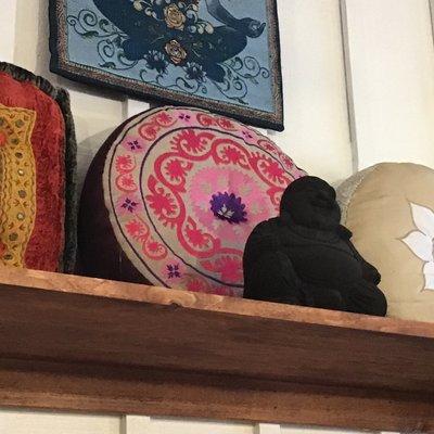 Meditation Cushion Pink and Purple Mandela