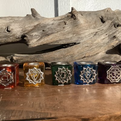 Ritual Candle Holder Square Chakra