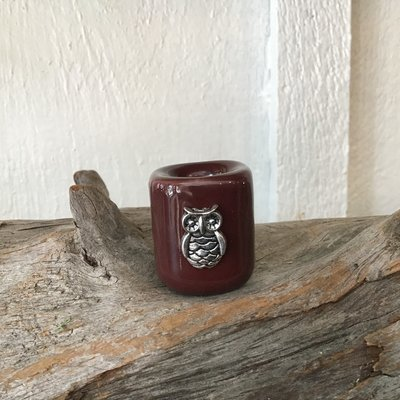 Owl Ritual Candle Holder