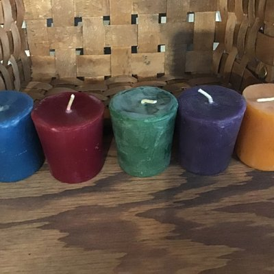 Beeswax Candles Coloured