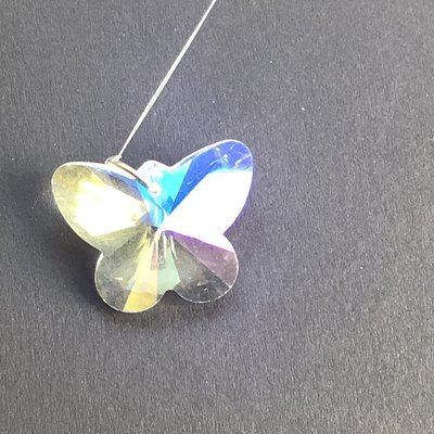 Iridescent Butterfly Hanging Window Crystal