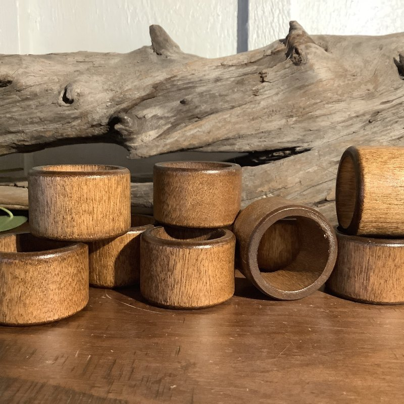 Wood Circle Sphere Stands