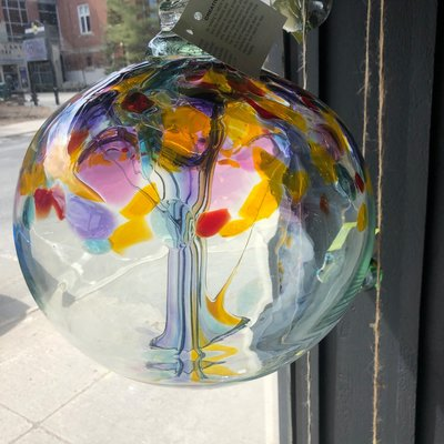 "Kitras Glass Ball 10"" Tree of Creativity"