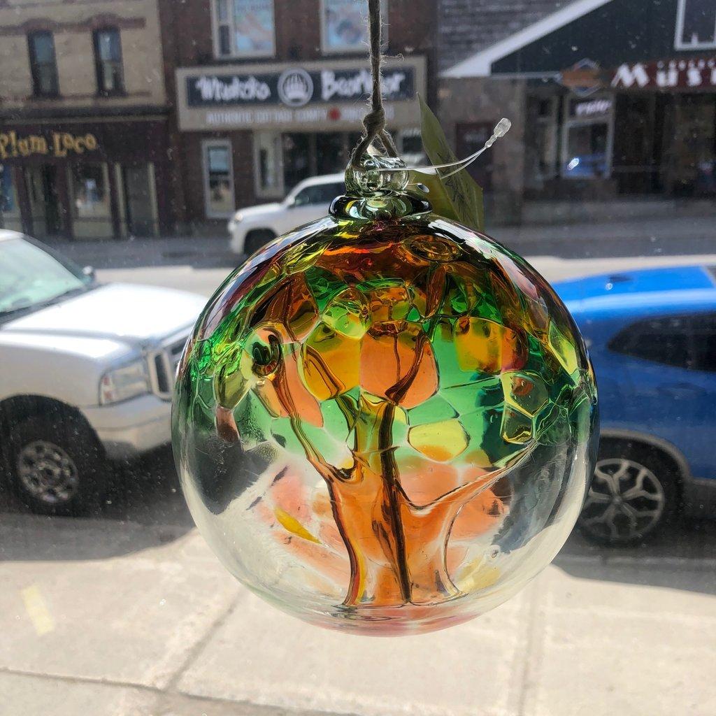 "Kitras Glass Ball 6"" Tree of Autumn"