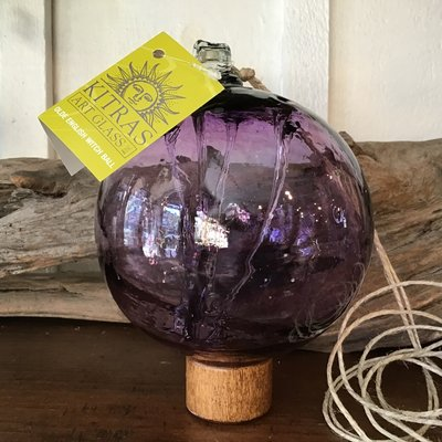 "Kitras Glass Ball 4"" Amethyst Witch Ball"