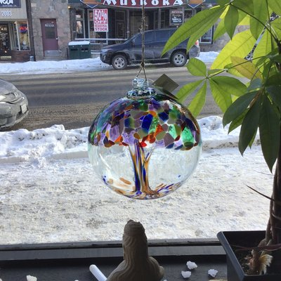 "Kitras Glass Ball 10"" Tree of Adventure"