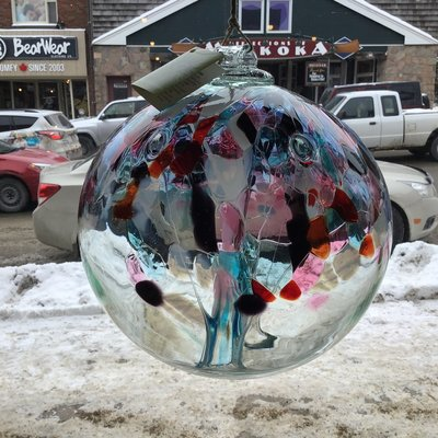 "Kitras Glass Ball 10"" Tree of Freedom"
