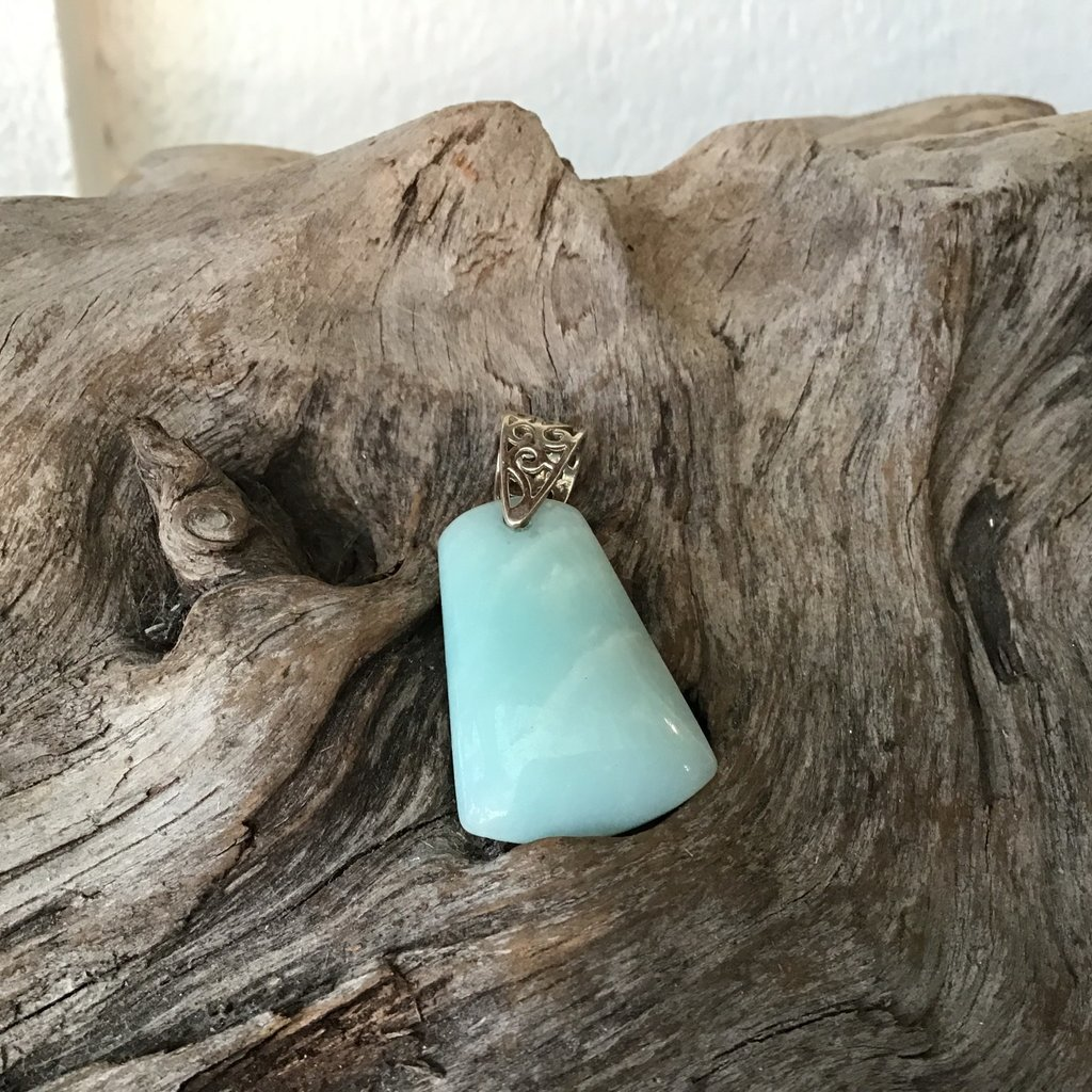 Blue Aragonite Pendant