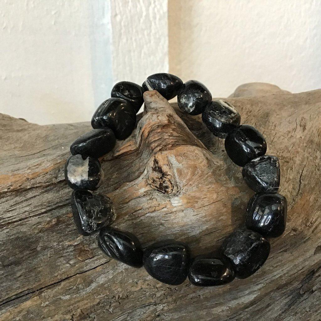 Black Tourmaline Raw Bracelet