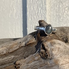 Labradorite Silver Ring Size 8