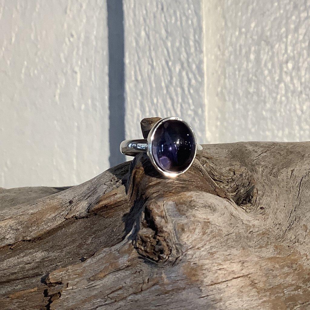 Amethyst Silver Ring Size 6