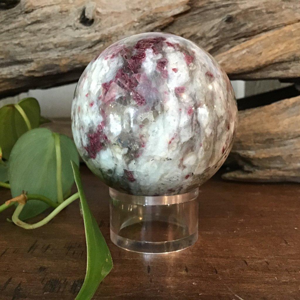 Rubellite in Albite Sphere Circumference 18 cm