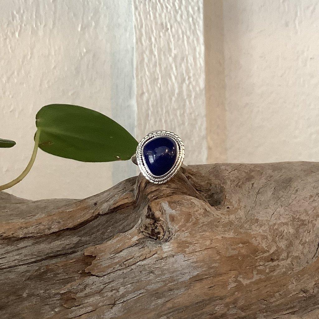 Lapis Lazuli Silver Ring Size 6