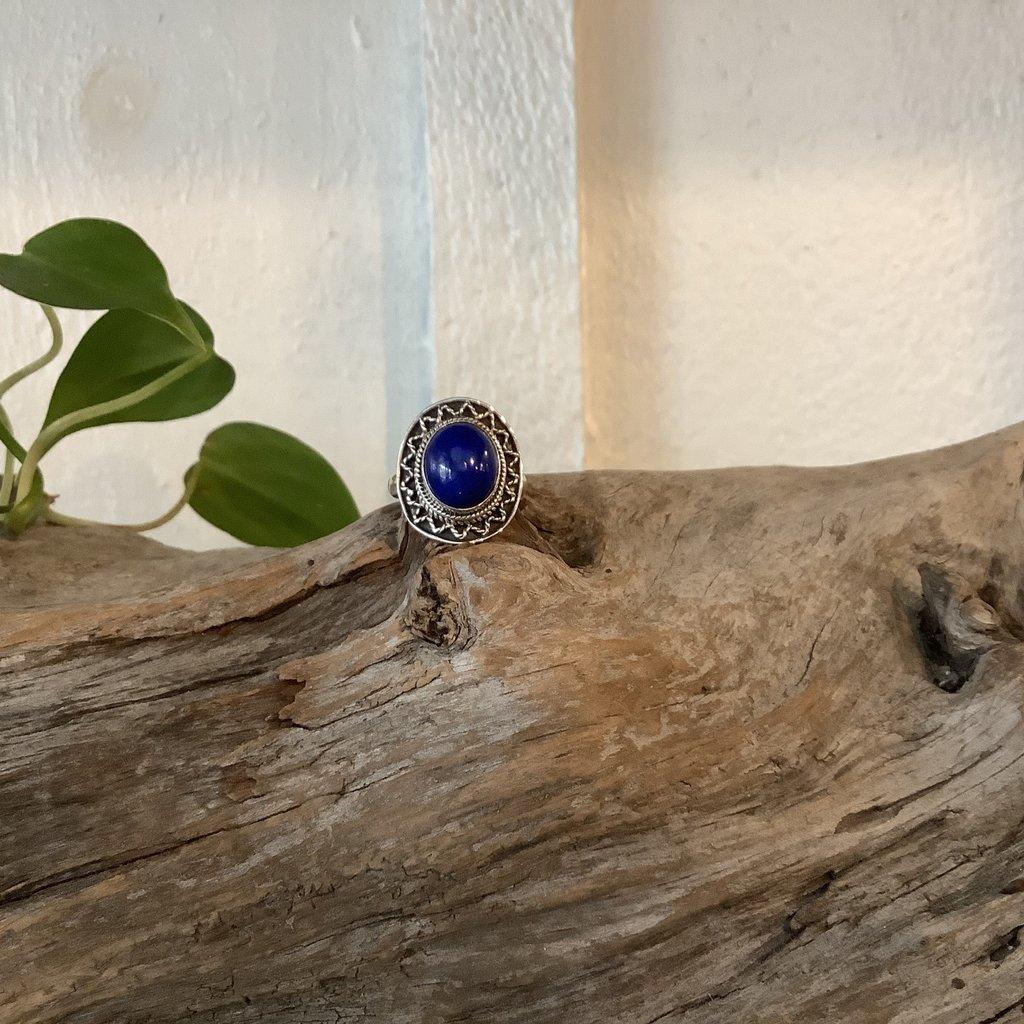 Lapis Lazuli Silver Ring Size 7