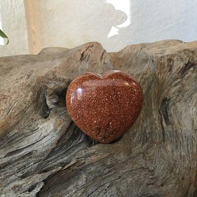 Goldstone Puffy Heart
