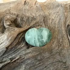Green Fluorite Mini Heart