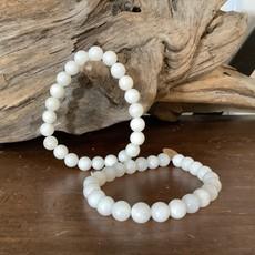 White Onyx bracelet 6mm