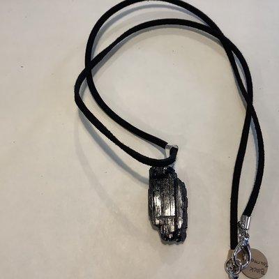 Black Tourmaline Rope Necklace
