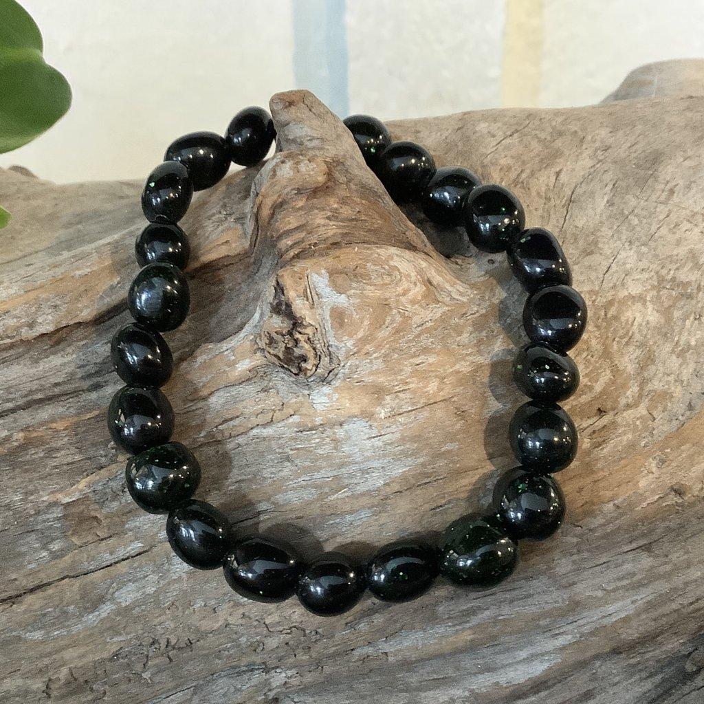 Green Goldstone Bracelet
