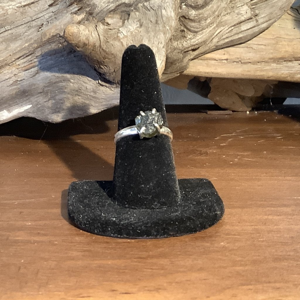 Moldavite Silver Ring