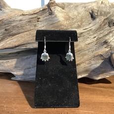 Moldavite Silver Earrings