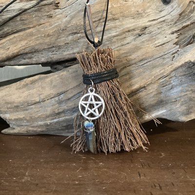 Broom with Pentacle