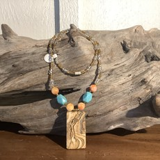 Beaded Picture Jasper Necklace