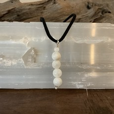 Rainbow Moonstone Rope Necklace