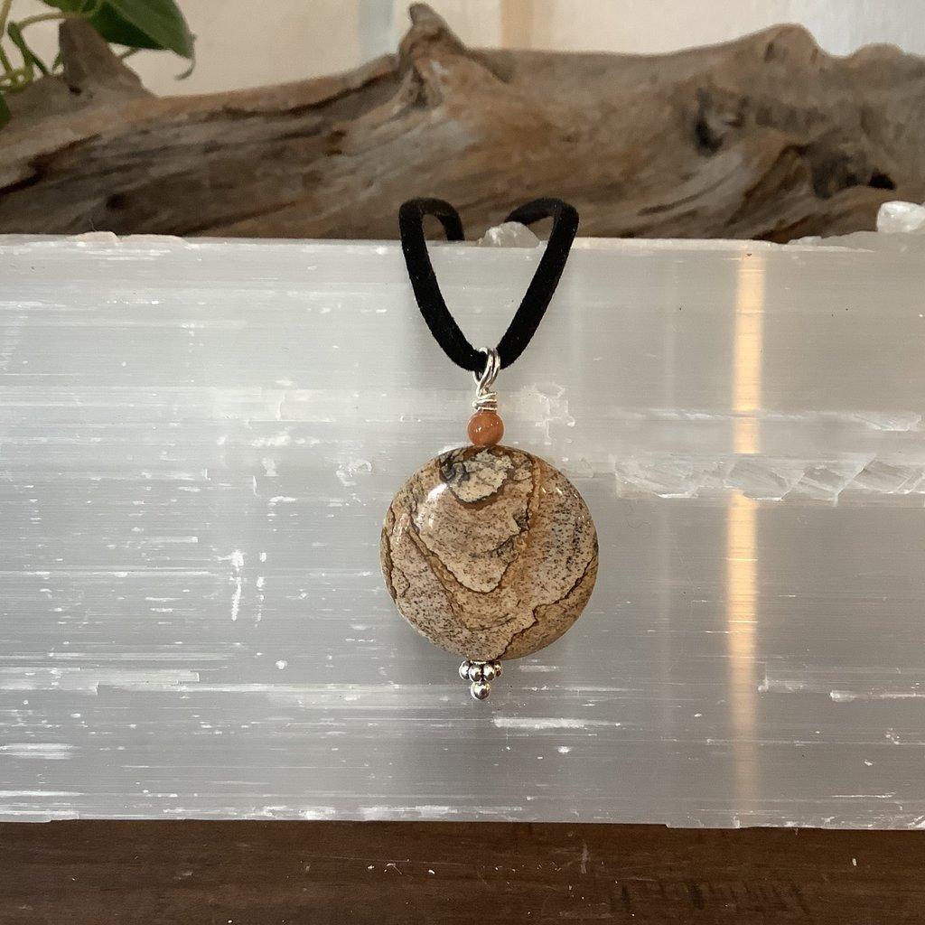 Picture Jasper Round Rope Necklace