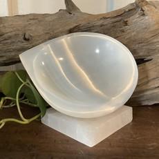 Selenite Tear Drop Bowl