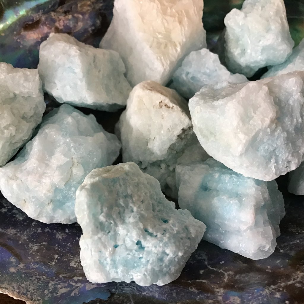 Blue Aragonite Raw