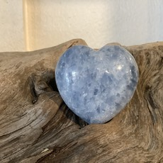Large Blue Calcite Puffy Heart