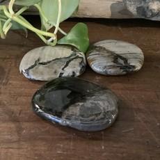 Silver Leaf Jasper Palm Stone