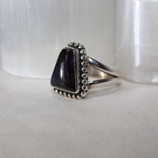 Sugilite Silver Ring Size 5.5