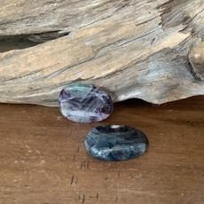 Fluorite thumb stone